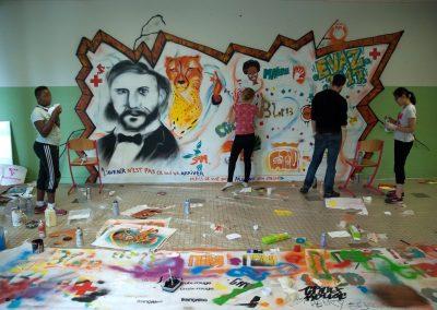 Fresque EVAZ - Paris 19